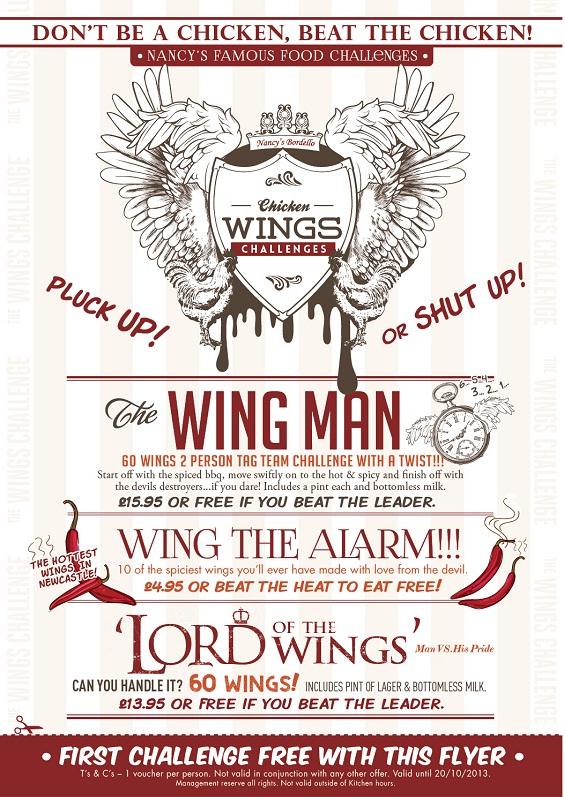Chicken wings flyer 564px
