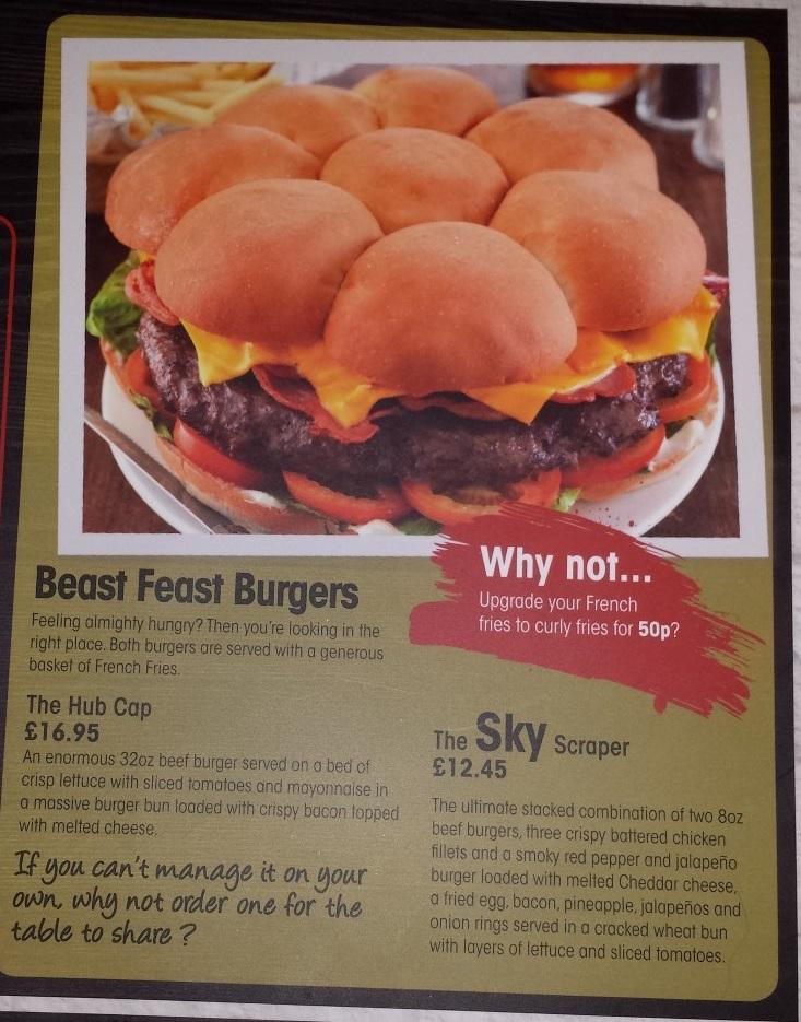 The Hub Cap Burger Challenge At The Fairway Inn Sheffield