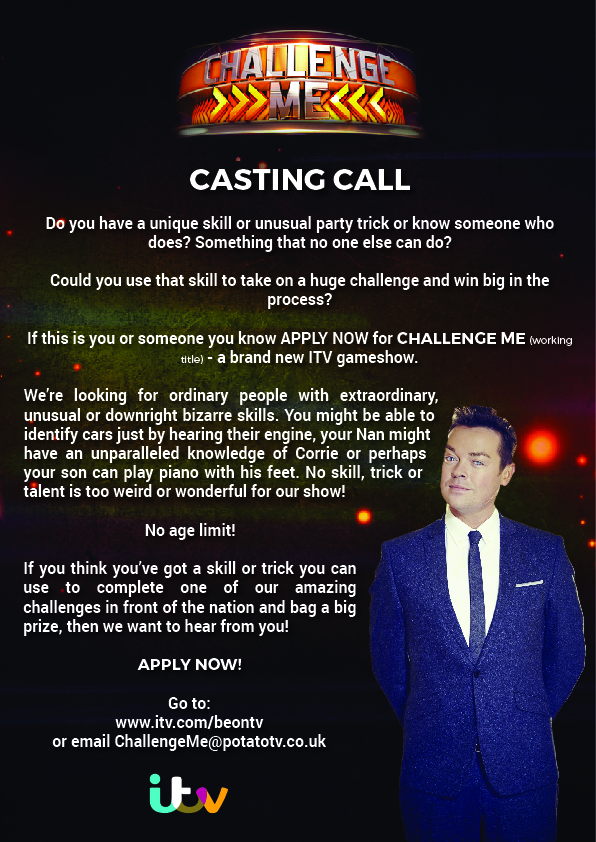 Challenge Me - Casting Call